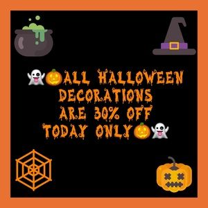 👻🎃HALLOWEEN DECORATIONS DISCOUNT DAY🎃👻